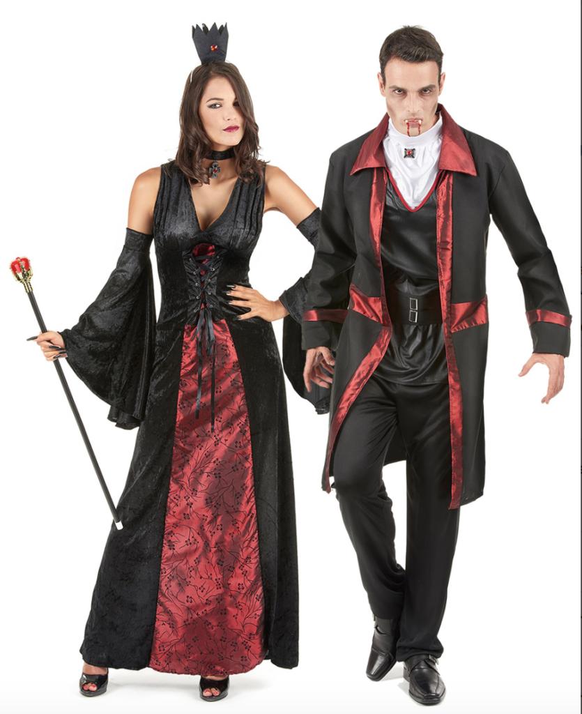 vampyr par kostume til voksne 835x1024 - Halloween par kostume til voksne