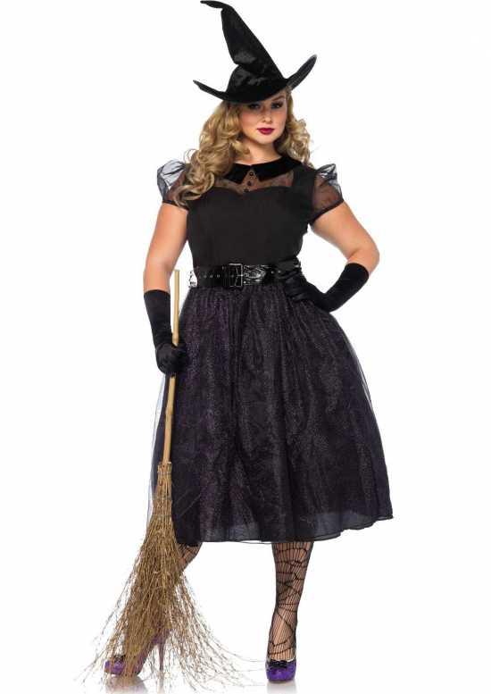 vintage heks kostume plus size - Plus size kostume til halloween