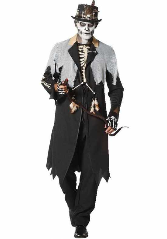voodoo konge kostume 1 - Voodoo kostume til voksne