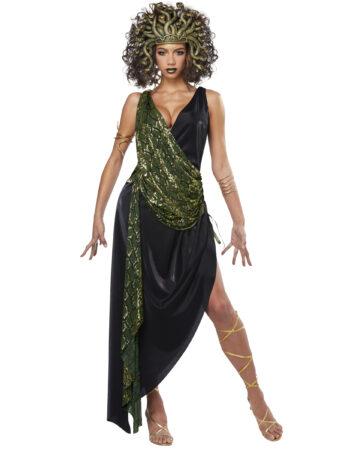 medusa luksus kostume til kvinder medusa voksen kostume græsk mytologi kostumefest