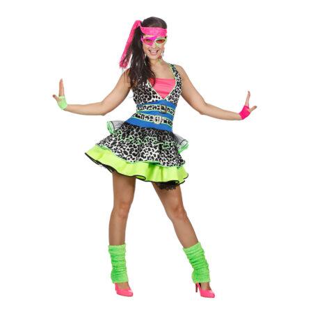 80er fest kostume til voksne neon kjole til voksne
