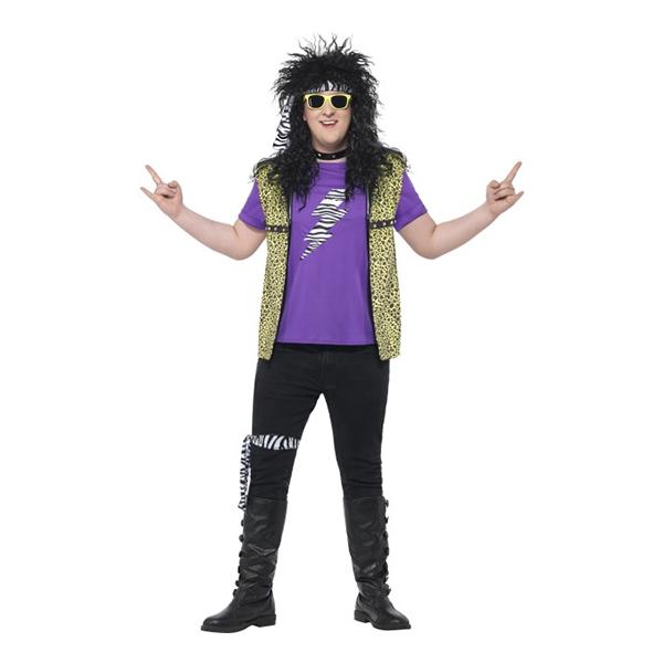 80 er rock stjerne plus kostume - Rockstjerne kostume til voksne
