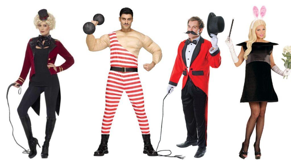 cirkus kostume for voksne cirkus stærk mand kostume løvetæmmer kostume kanin i hatten kostume