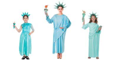 frihedsgudinde kostume til voksne frihedsgudinde kostume til børn sidste skoledag kostume 390x205 - Frihedsgudinde kostume