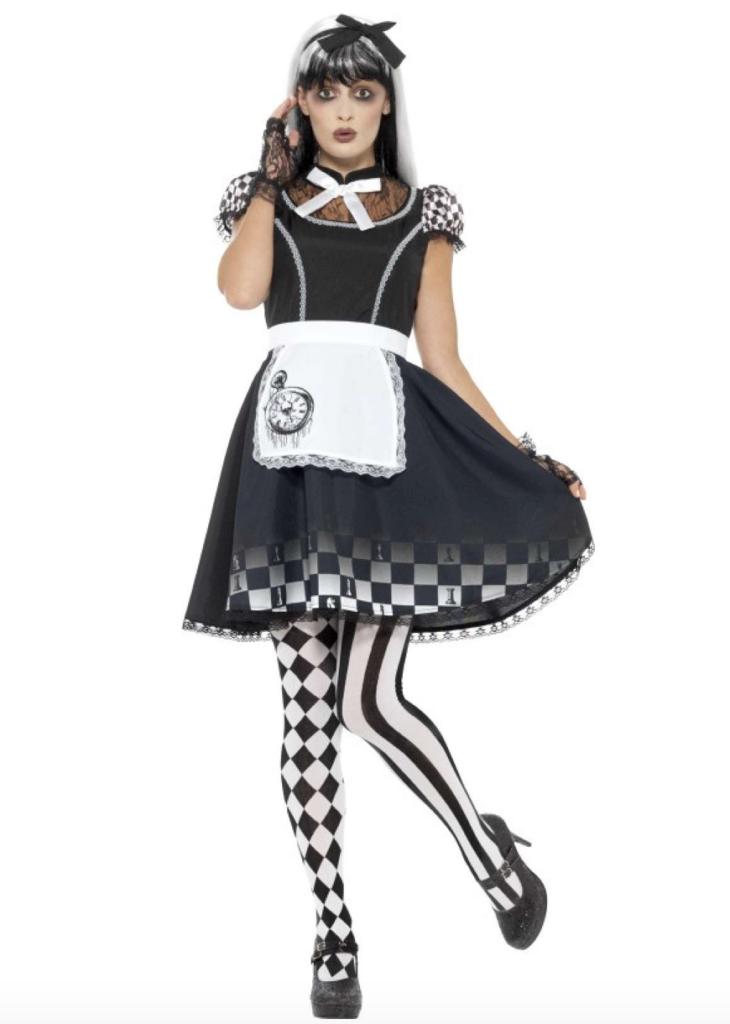 gotisk alice i eventyrland kostume 730x1024 - Gotisk kostume til voksne