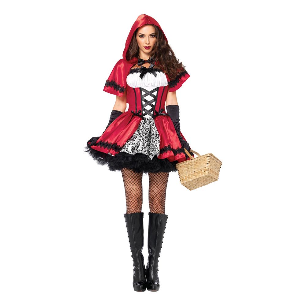 gotisk rødhætte kostume - Gotisk kostume til voksne