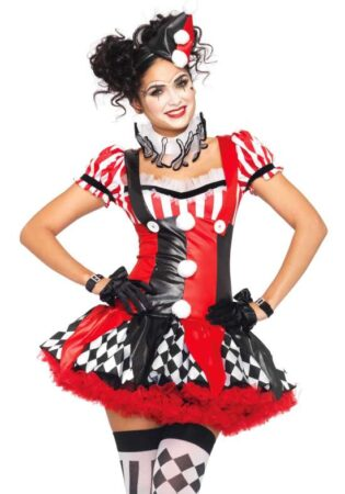 harlekin klovn kostume til kvinder cirkus udklædning til kvinder