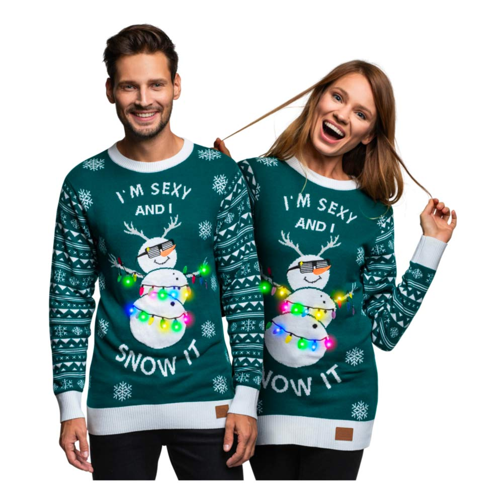 i´m sexy and I snow it - Unisex julesweater med LED lys