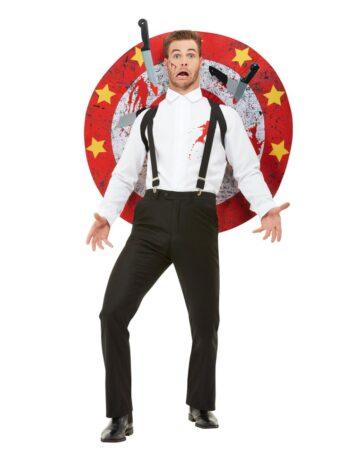 knivkaster kostume cirkus udklædning uden sminke magi kostume
