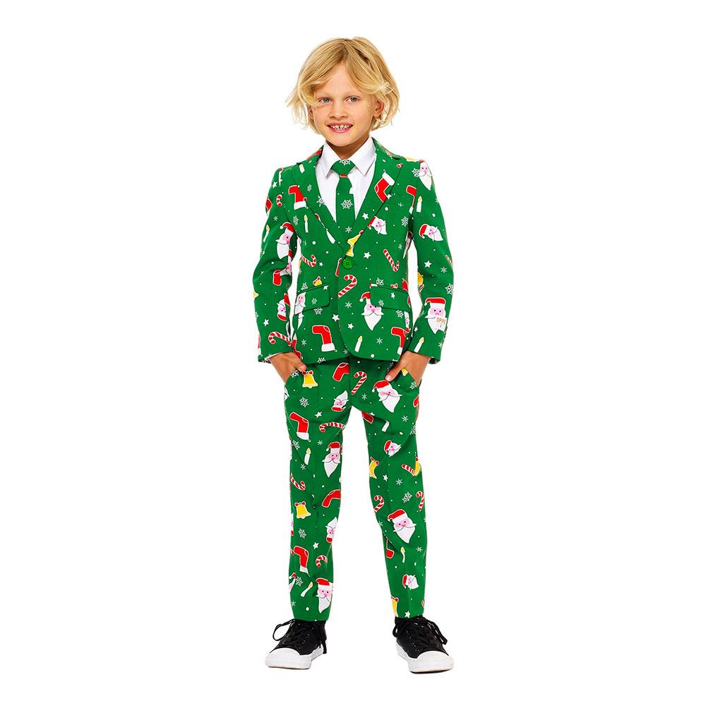 opposuits santaboss jule jakkesæt med julemotiver - Jule jakkesæt til børn