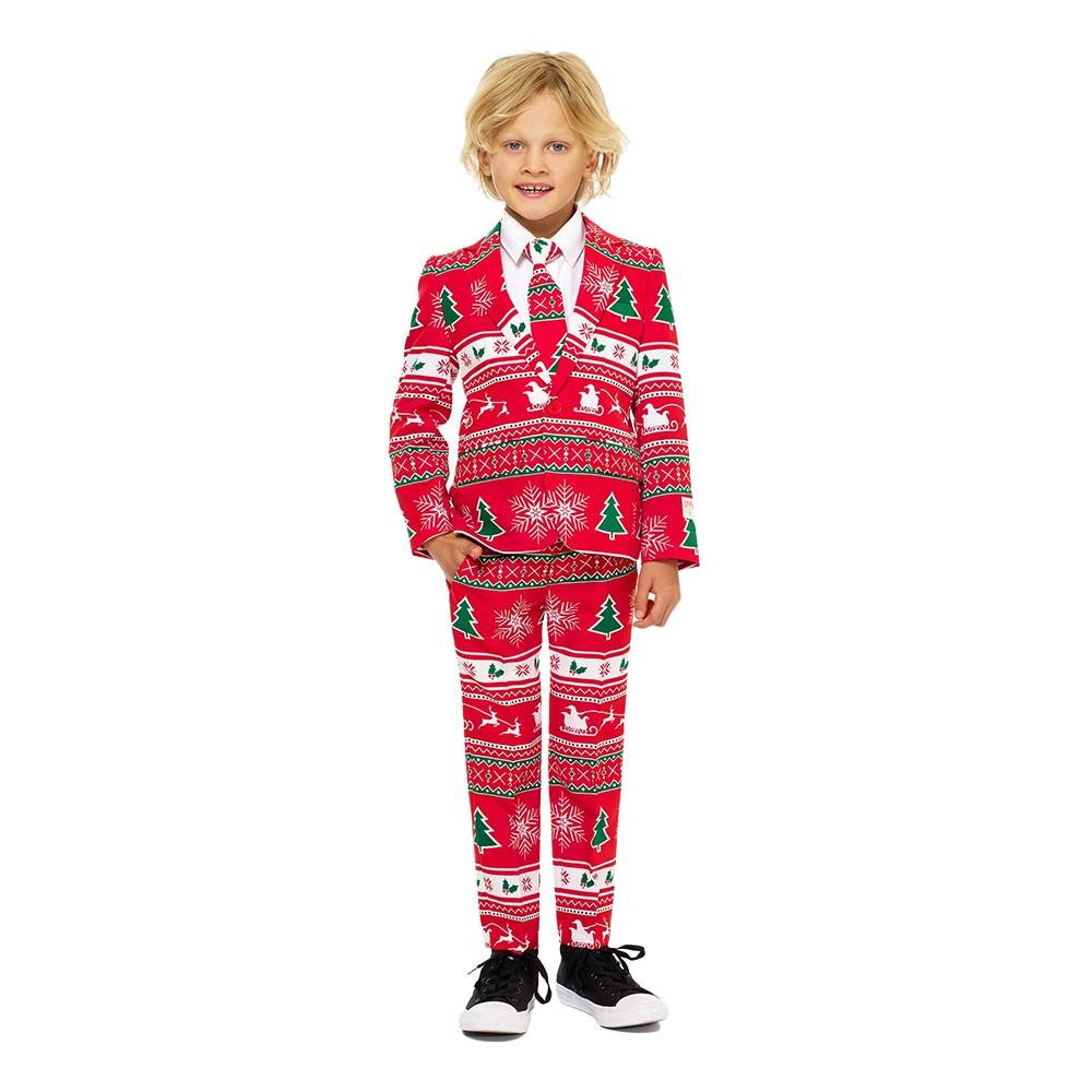 opposuits winter wonderland jakkesæt til børn - Jule jakkesæt til børn