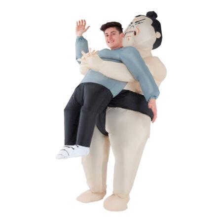 carry me sumo bryder kostume japansk kostume ride on sumo udklædning