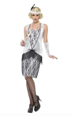 Charleston danserinde kostume 278x450 - Charleston kostume til voksne