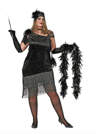 Charleston kjole plus size 322x450 - Charleston kostume til voksne
