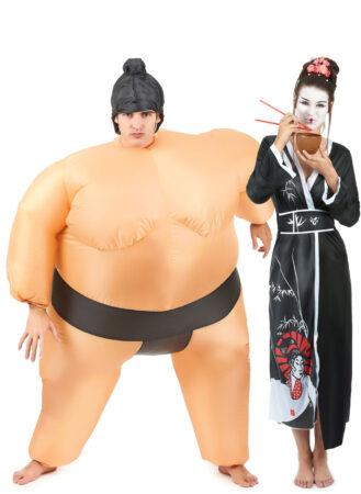 sumo og geisha kostume sumo parkostume til voksne