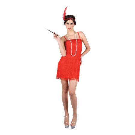 charleston rød kjole 450x450 - Charleston kostume til voksne