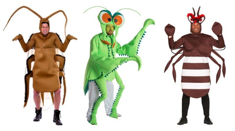 insekt kostume til voksne, insekt kostumer til voksne, sjove insekt voksenkostumer, insekt udklædning til voksne, kakerlak kostume til voksne, edderkop kostume til voksne, myg kostume til voksne