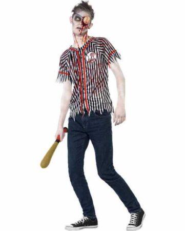 zombie baseball spiller kostume teen halloween kostume