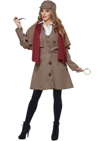 kvindelig sherlock homes detektiv pige kostume