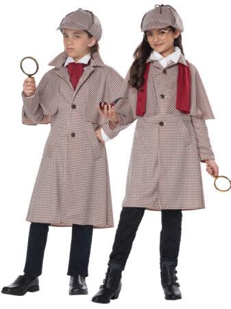 detektiv kostume til barn detektiv kostume til pige detektiv kostume børnekostume sherlock homes kostume til børn