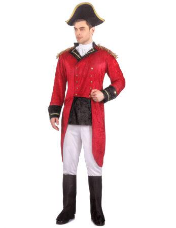rødt napoleon kostume til voksne napoleon udklædning til vosne historisk kostume fransk temafest