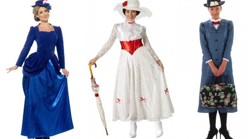 mary poppins kostume til voksne, mary poppins udklædning til voksne, mary poppins kostumer, mary poppins voksenkostume, disney kostume til voksne, mary poppins fastelavnskostume til voksen