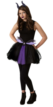 maleficent kostume til teen sidste skoledag udklædning sort udklædning fastelavnskostume til teen halloween kostume til teen