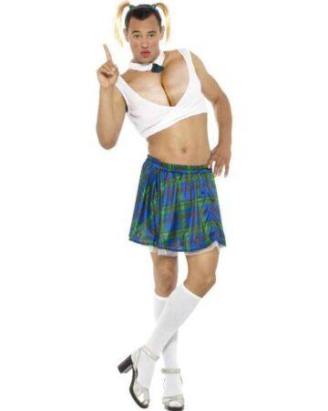 sexet mandlig skolepige kostume 360x450 - Skolepige kostume til voksne