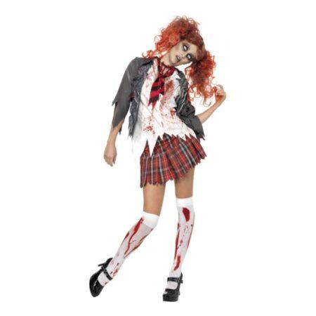 zombie skolepige kostume til halloween 450x450 - Skolepige kostume til voksne
