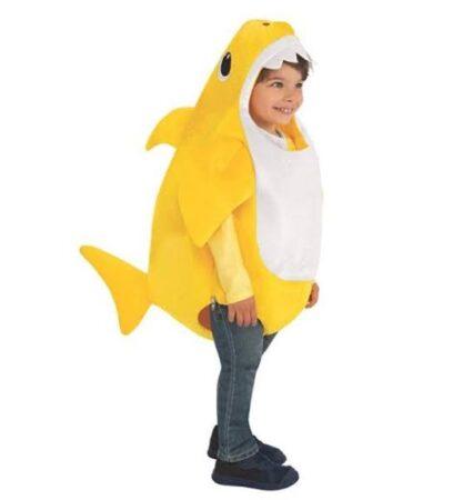 gul baby shark børnekostume babyshark kostume til børn baby shark udkædning til baby baby youtube kostume til baby