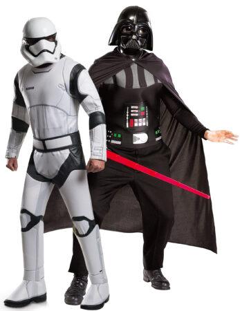 star wars parkostume temafest udklædning darth vader og stormtrooper