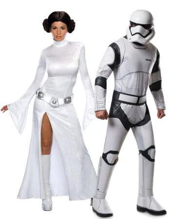 Starwars 8 kostume til voksne Prinsess Leia kostume Stormtrooper udklædning til voknse temafest udklædning star wars