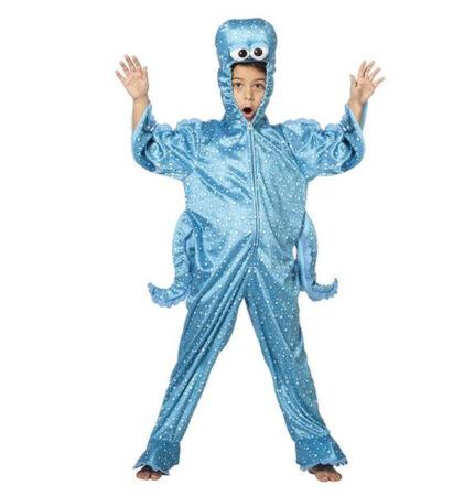 blå blæksprutte kostume til børn blæksprutte børnekostume fisk kostume under havets overflade kostume bløddyr kostume til børn