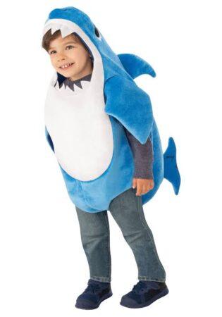blå baby shark kostume babyshark babykostume youtube kostume til børn