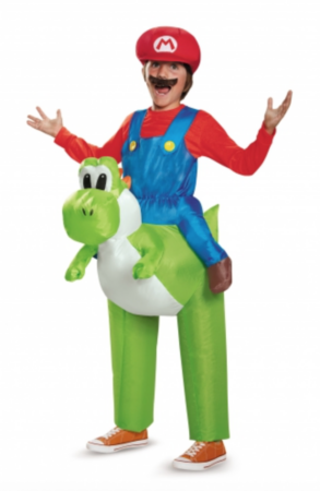 Oppustelig mario kostume 293x450 - Oppustelige kostumer til børn
