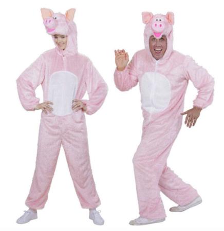 Plysset grise kostume  436x450 - Gris kostume til voksne