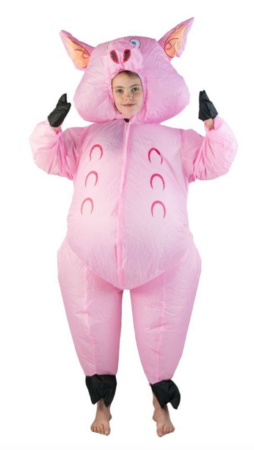 oppustelig gris børnekostume 254x450 - Oppustelige kostumer til børn