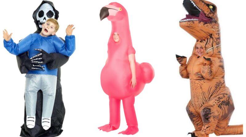 Oppustelige kostumer til børn