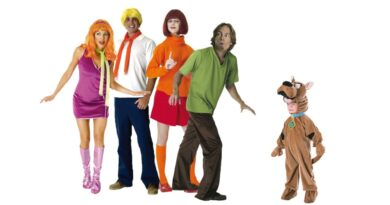 scooby doo kostume til voksne vera kostume til voksne shaggy kostume til voksne scooby doo gruppe kostume daphne kostume til voksne gruppe kostume tegnefilm 70erne 390x205 - Scooby Doo kostume til voksne
