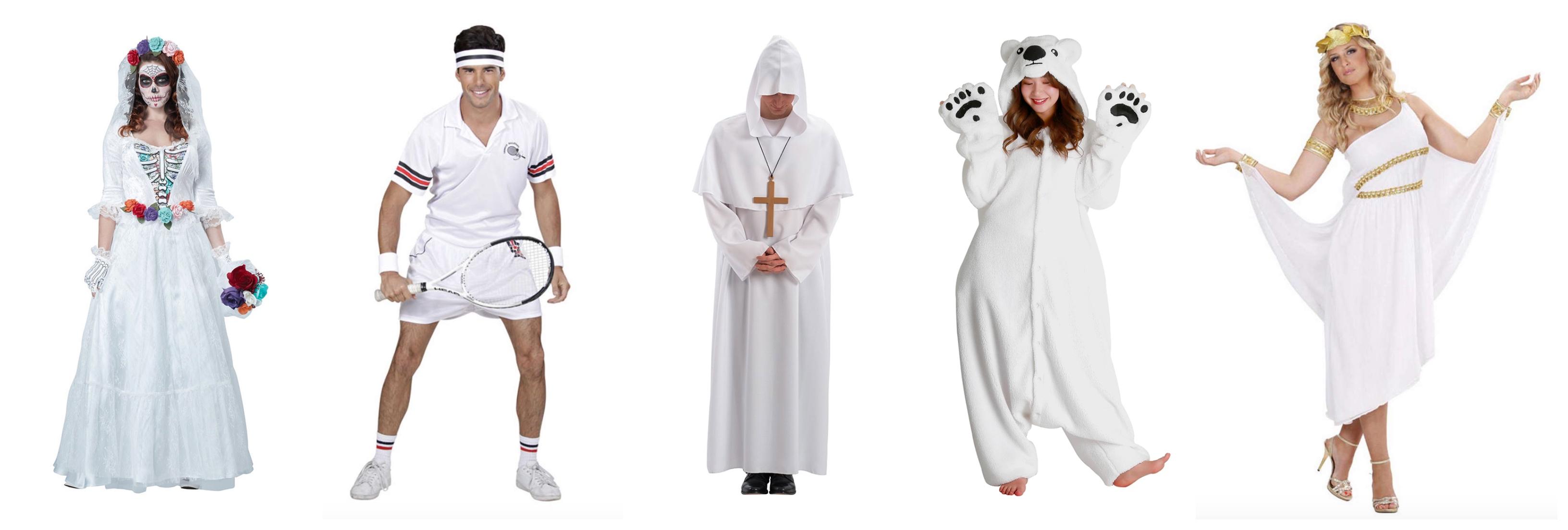 Hvide voksenkostumer - Hvide kostumer til voksne