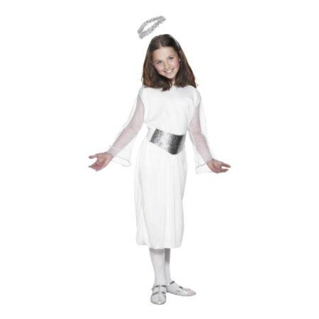 Hvidt engel kostume til børn 450x450 - Hvide kostumer til børn