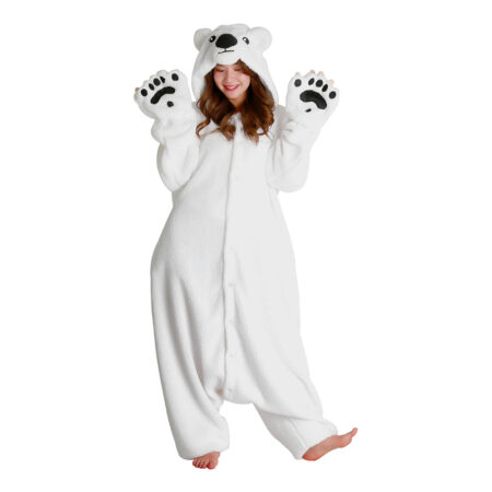 Isbjørn kigurumi 450x450 - Hvide kostumer til voksne