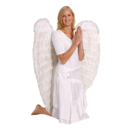 Kæmpe engel vinger kostume 450x450 - Hvide kostumer til voksne