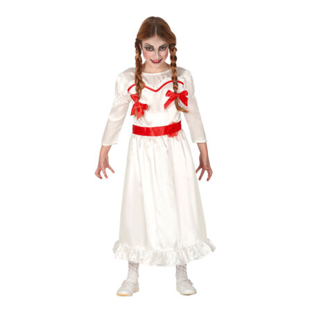 Skræmmende dukke kostume til børn 450x450 - Hvide kostumer til børn