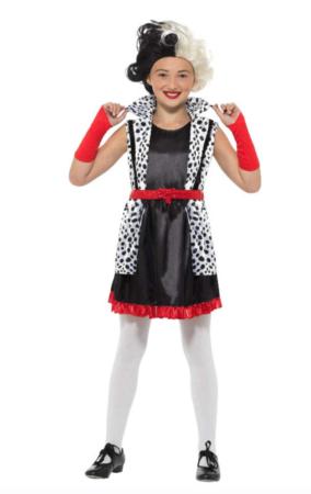 cruella de vil børnekostume 284x450 - Cruella de vil kostume til børn