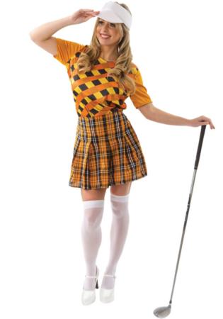 golfspiller kostume til kvinder golf udklædning sportskostume til kvinder temafest sport udklædning kvinder kvindelig golfsplller kostume