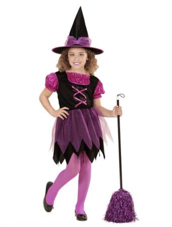 Pink hekse kostume 342x450 - Hekse kostume til børn