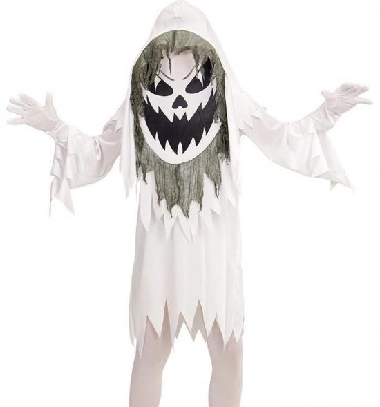 Spøgelse Kæmpehoved Børnekostume - Spøgelseskostume til børn
