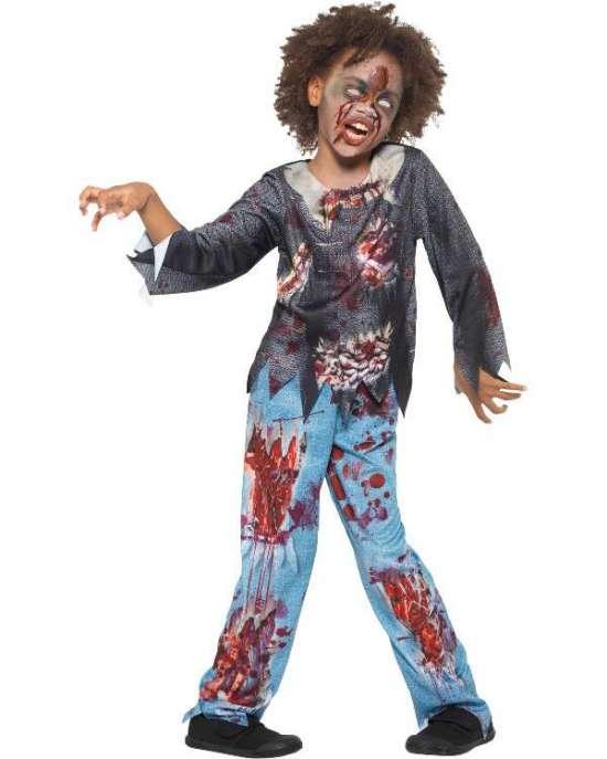 Zombie børnekostume - Zombie kostume til børn
