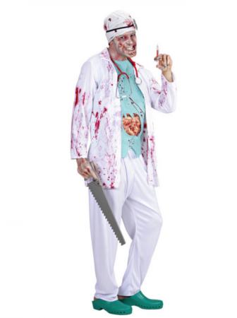 doktor zombie kostume 336x450 - Zombie kostume til voksne
